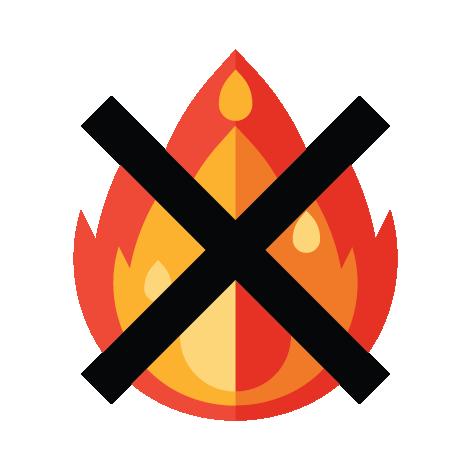 5. ห้ามเผาไฟ